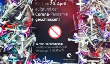 Triemer Aesthetics Dresden Praxis Corona Pandemie geschlossen