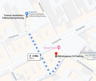 Triemer Aesthetics Dresden Praxis Parken Parkhaus Wegbeschreibung