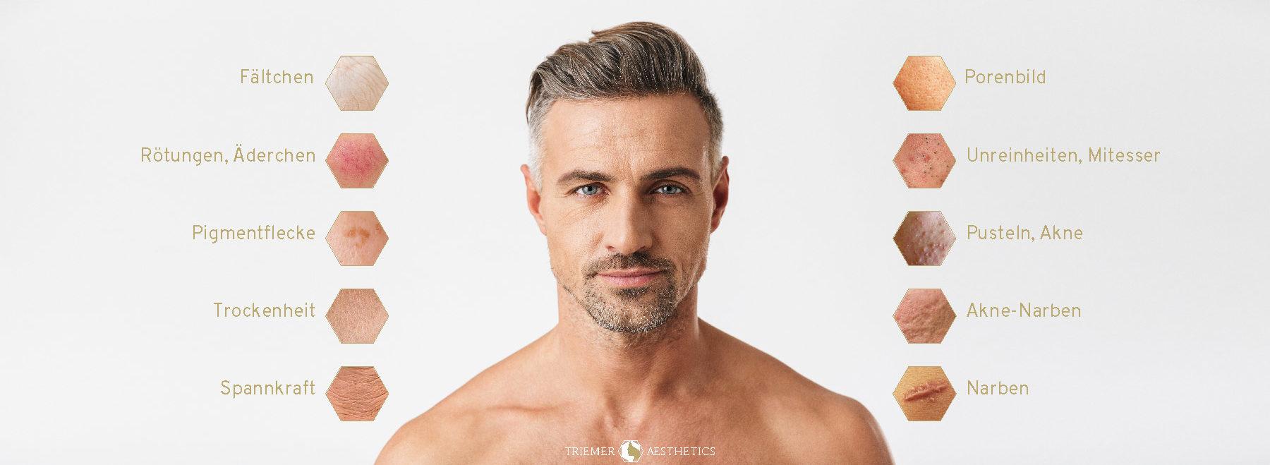 Triemer Aeshetics Dresden Ästhetik Kosmetik Medizin Schönheit Schönheitsmedizin Haut Hautqualität Mann Männer